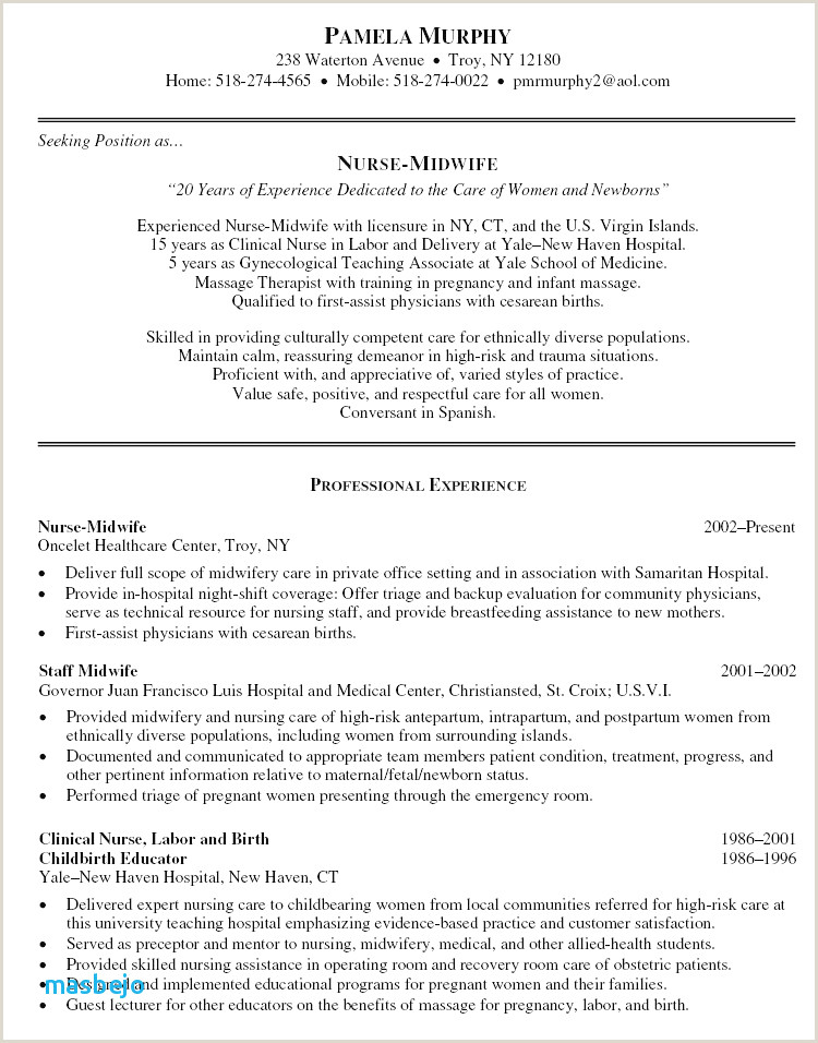 Interview Narrative Examples Beautiful Massage Resume
