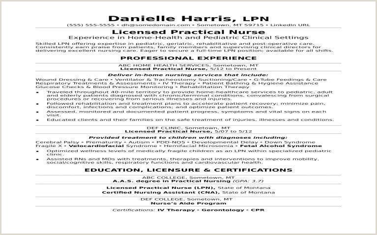 Standard Cv format for Nurses Lpn Resume 650 405 Licensed Practical Nurse Sample Resume