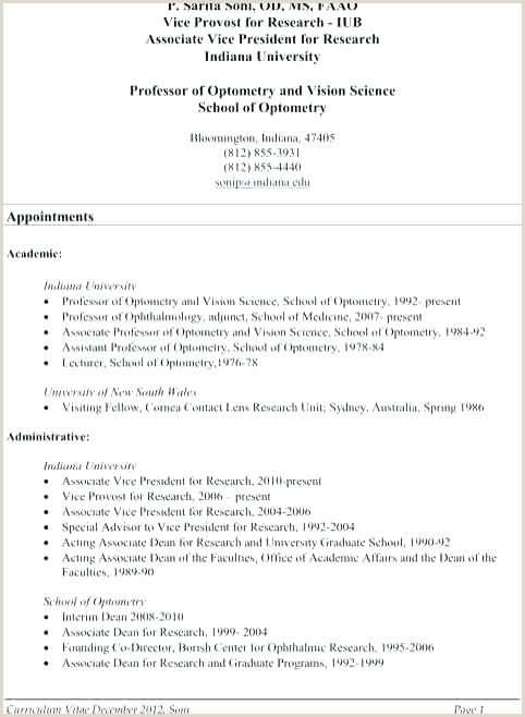 Standard Cv format for Phd Application Phd Resume Template