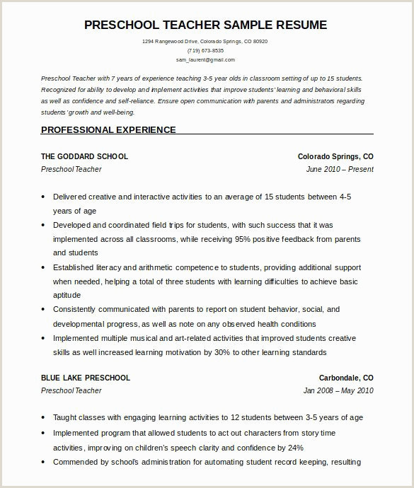 Standard Cv format for School Teacher Exemple Cv Word Modele De Cv Hotesse Luxe Modele Cv