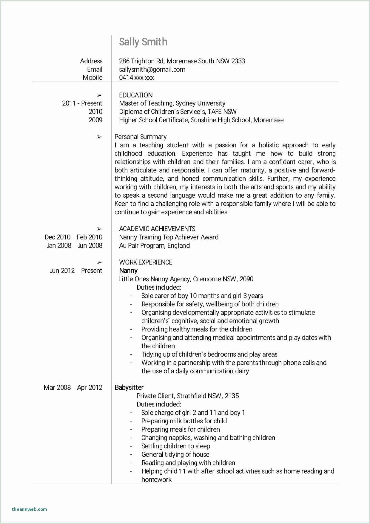 Standard Cv format for School Teacher Friendly Letter format High School Sample Resume for