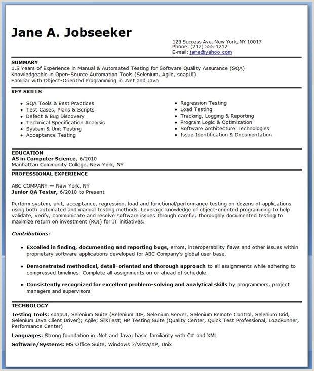 Standard Cv format for software Engineer Resume format for 6 Months Experienced software Engineer