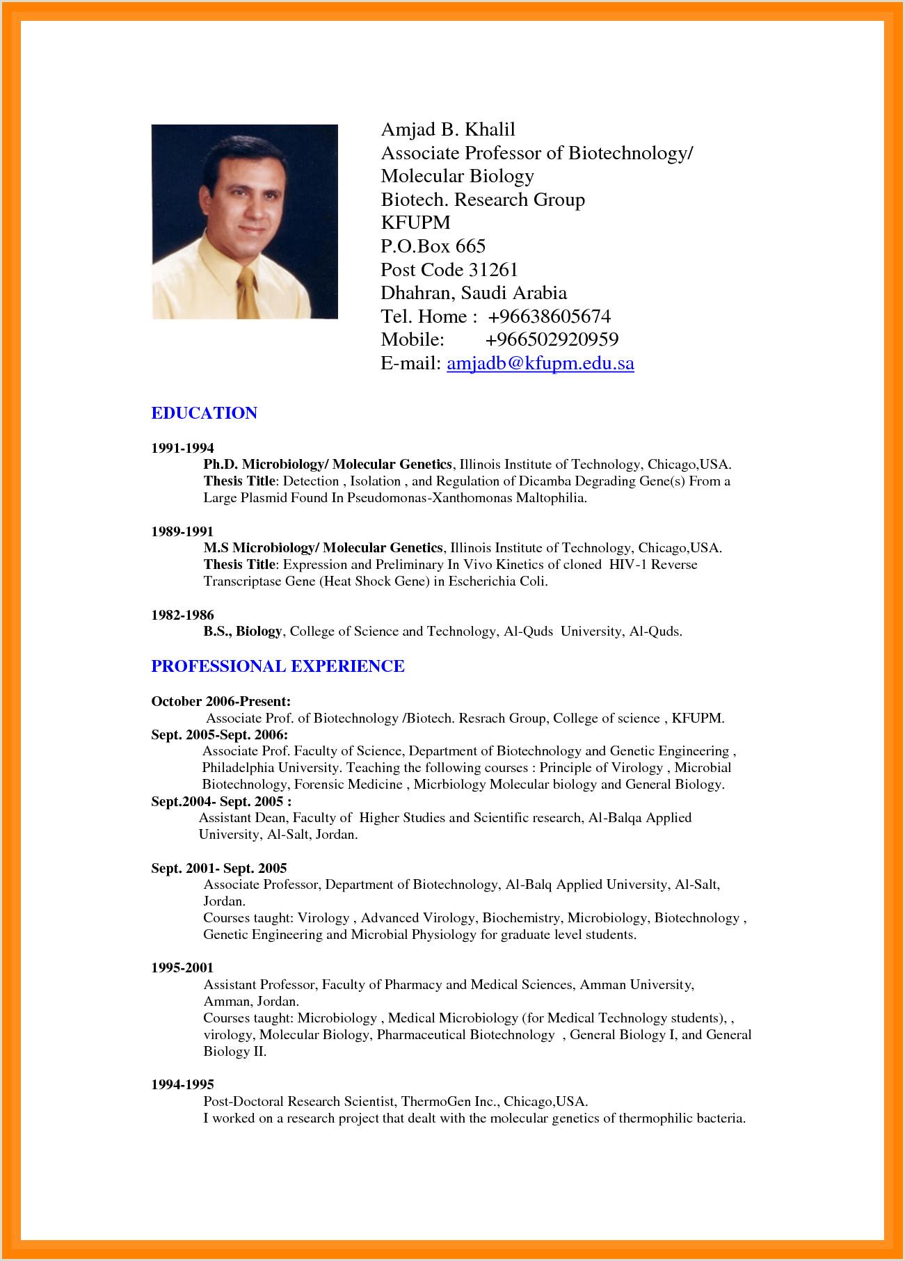 Standard Cv format for Teaching Profession Brilliant Ideas 9 Cv Sample Doc Charming Resume format