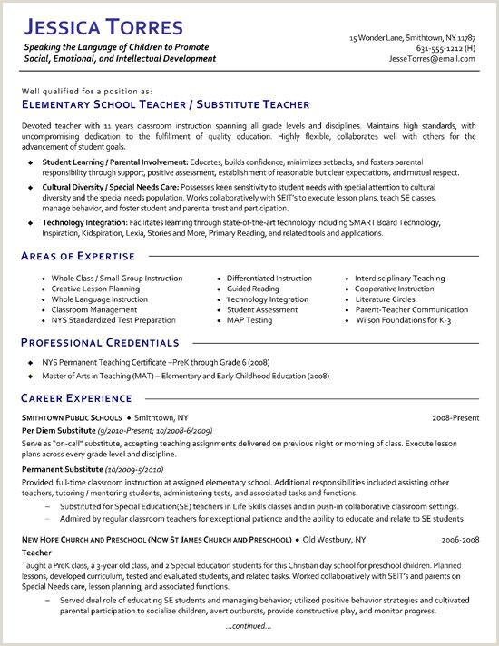 Standard Cv format for Teaching Profession Substitute Teacher Teacher Portfolio