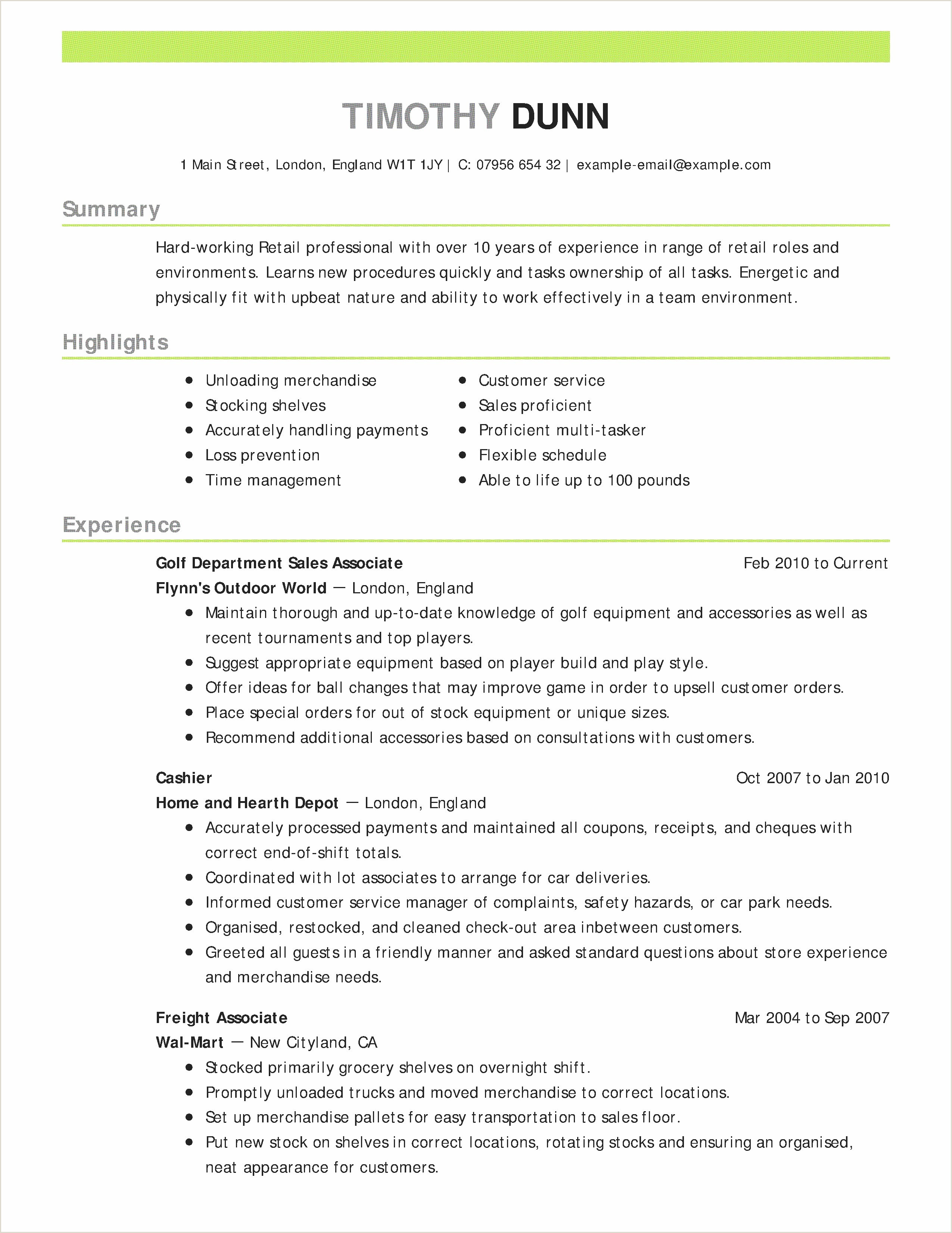 Cv Manager Simple 46 Management Accountant Cv Example