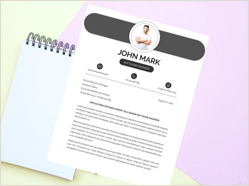 Mod¨le de CV propre moderne mod¨le CV lettre de motivation CV professionnel et créatif Word Resume