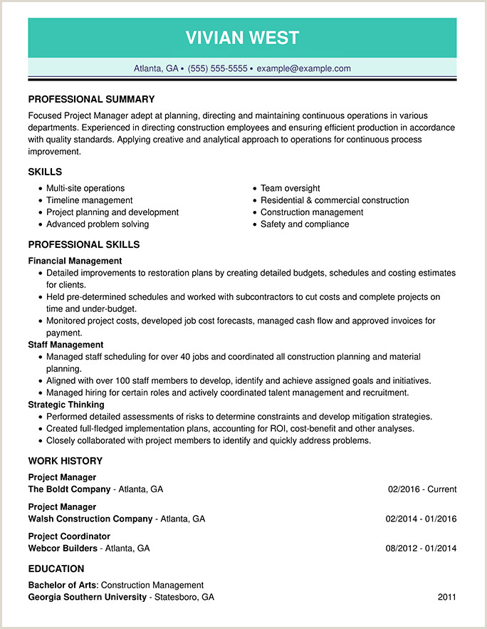 Standard Cv Format For University Admission Resume Format Guide And Examples Choose The Right Layout