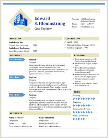 Standard Cv format In Ms Word 25 Free Resume Templates for Microsoft Word & How to Make