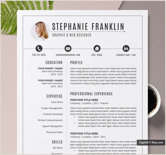 Creative Resume Templates Ms Word Resume Lettre d ac pagnement 1 3 Page CV professionnel Résumé simple et enseignant Téléchargement