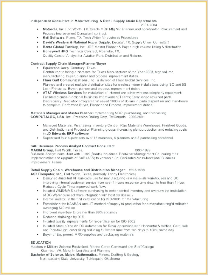 geologist resume template
