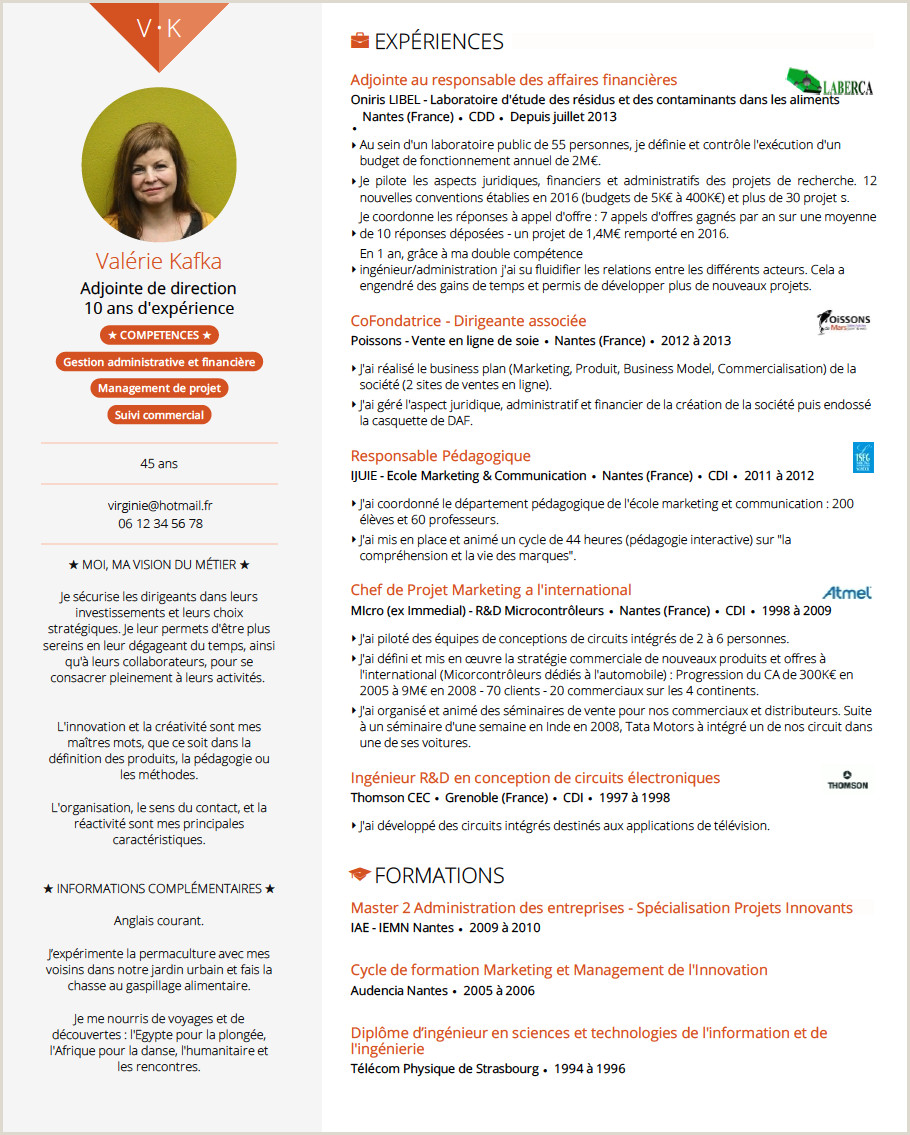 Standard Cv format In One Page Doyoubuzz