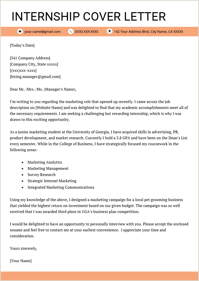 Standard Cv format Ms Word Cover Letter for Internship Example [ 4 Key Writing Tips