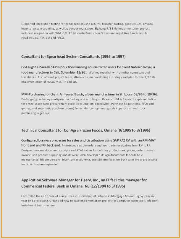 65 Resume Layout Template