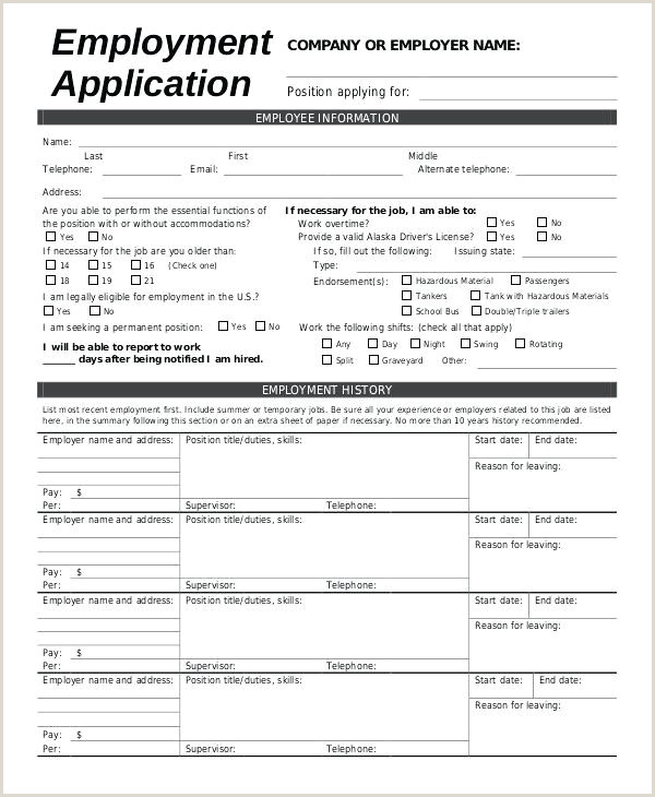 Standard Cv format Pdf In Bangladesh Sample Employment Application form 8 Examples In Word