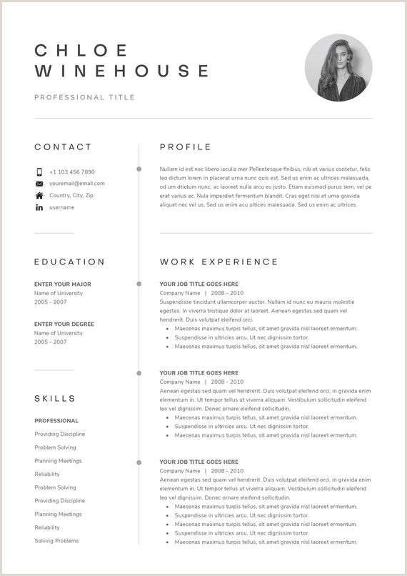 Clean Modern Resume Template 4 page CV Template Cover Letter for MS Word Instant Digital Download