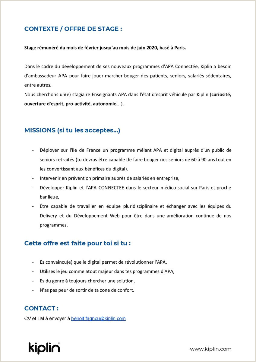 Standard format Cv Ahpra 2is Ingénierie Santé 2is Amiens