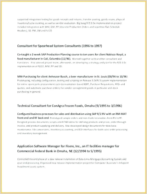 Standard format for Cv Pdf Curriculum Vitae Samples format Download Sample Resume Free