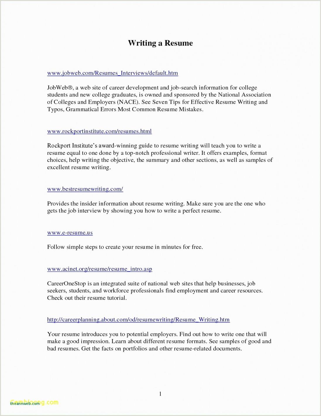 Standard format for Cv Pdf Teaching Resume Sample Pdf Valid Cv Resume Template