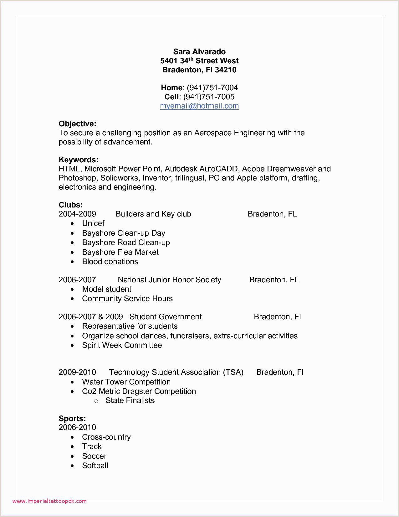Standard format Of Cv 2018 Exemple Cv Post Bac Student Resume Sample Examples Work