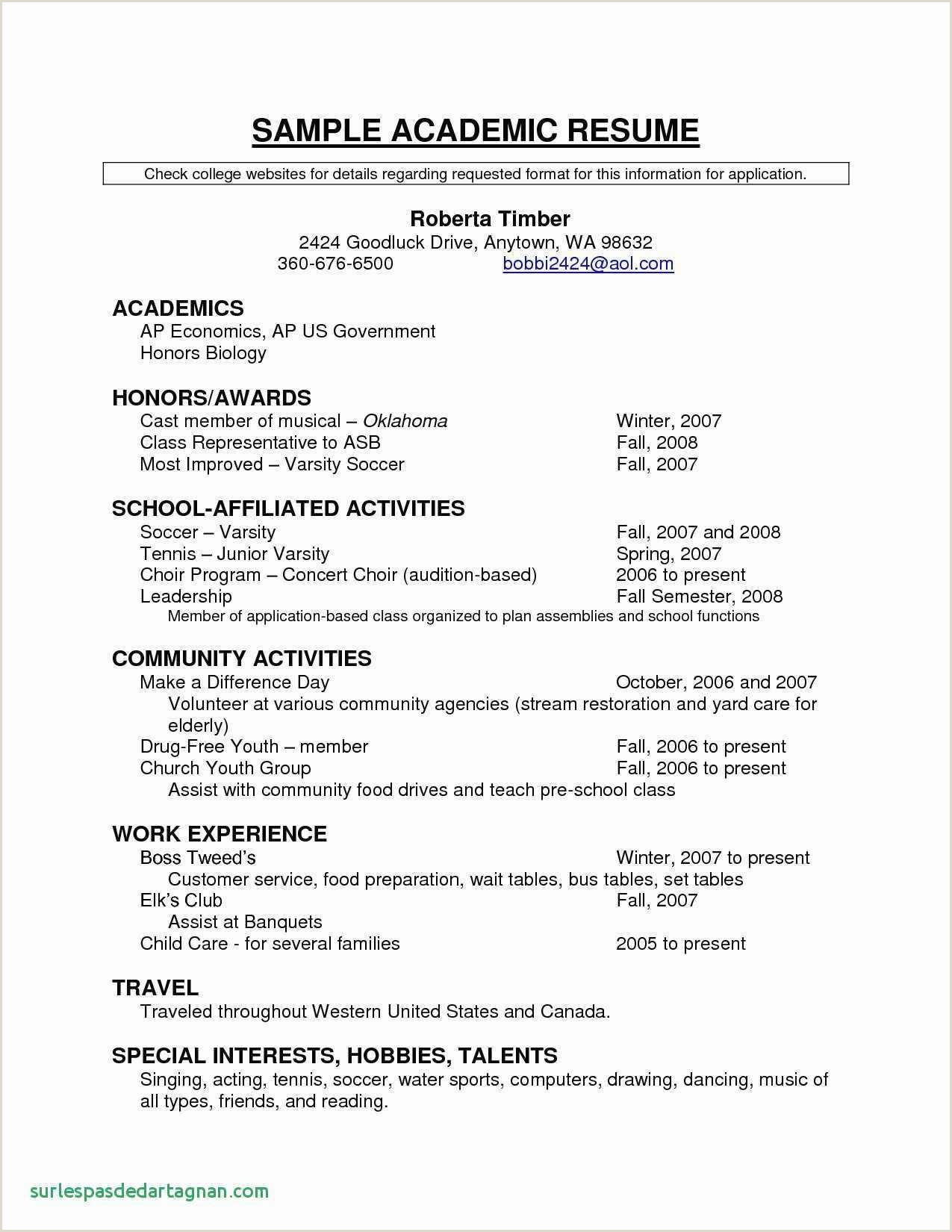 Standard format Of Cv for Job Application Resume Samples for A Teacher New Music Resume Template