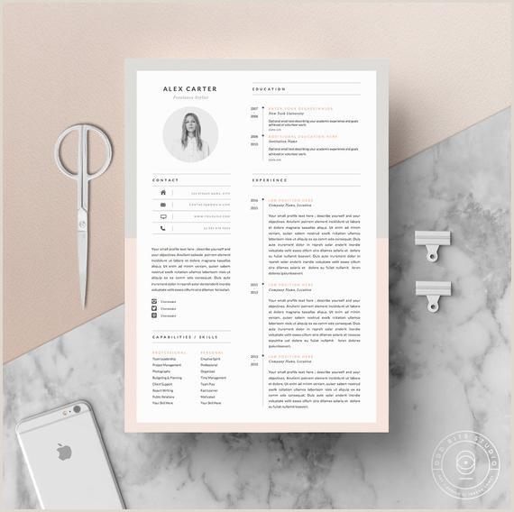 Mod¨le de cv moderne Lettre d ac pagnement Ic´ne Set pour Microsoft Word Pack de 4 pages CV professionnel Téléchargement instantané Le