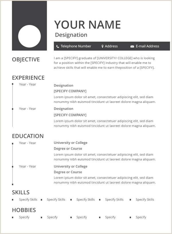 Standard Resume format for Experienced Pdf 47 Best Resume formats Pdf Doc