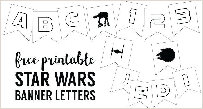 Birthday Banner Template Letter Free Printable Star Wars