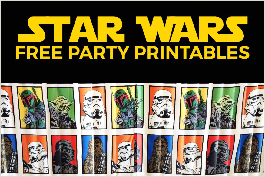 Star Wars Birthday Banner Printable Inspirations Customize Your Party Design with Cool Star