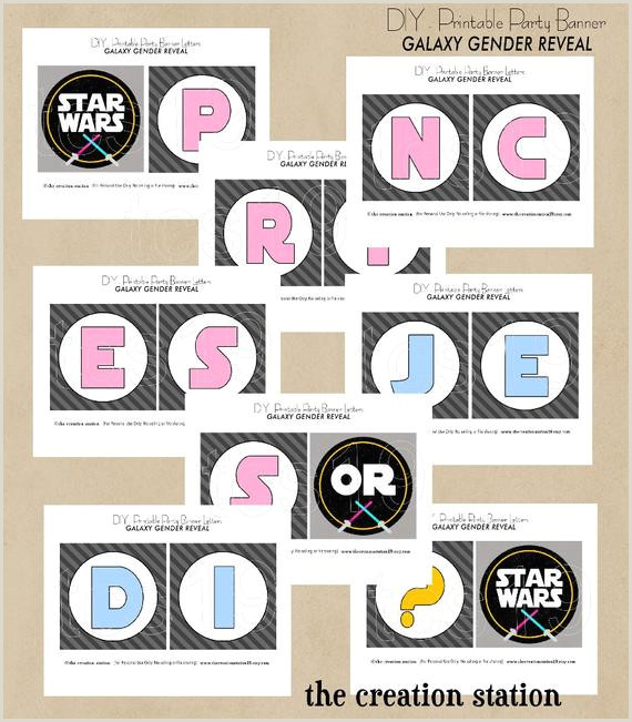 PRINTABLE Party Banner Galaxy Gender Reveal Star Wars Inspired Instant Download