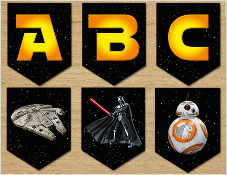 Star Wars Banner Party Birthday Banner Star Wars Digital Printable Download Instant Star Wars Banner Birthday FREE SHIPPING
