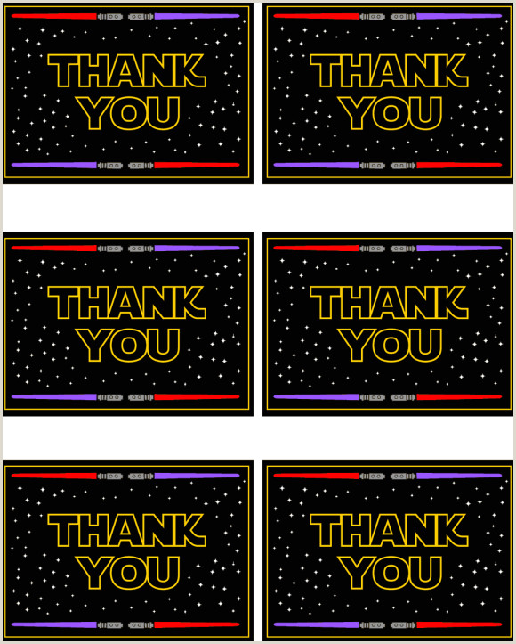 Star Wars Free Printable Thank You Cards