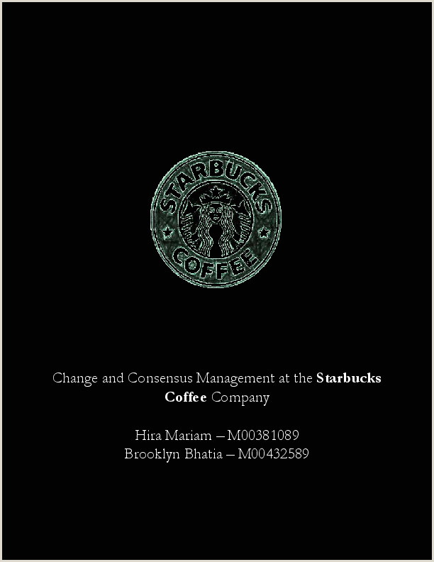 PDF Change and Consensus Management at the Starbucks Coffee