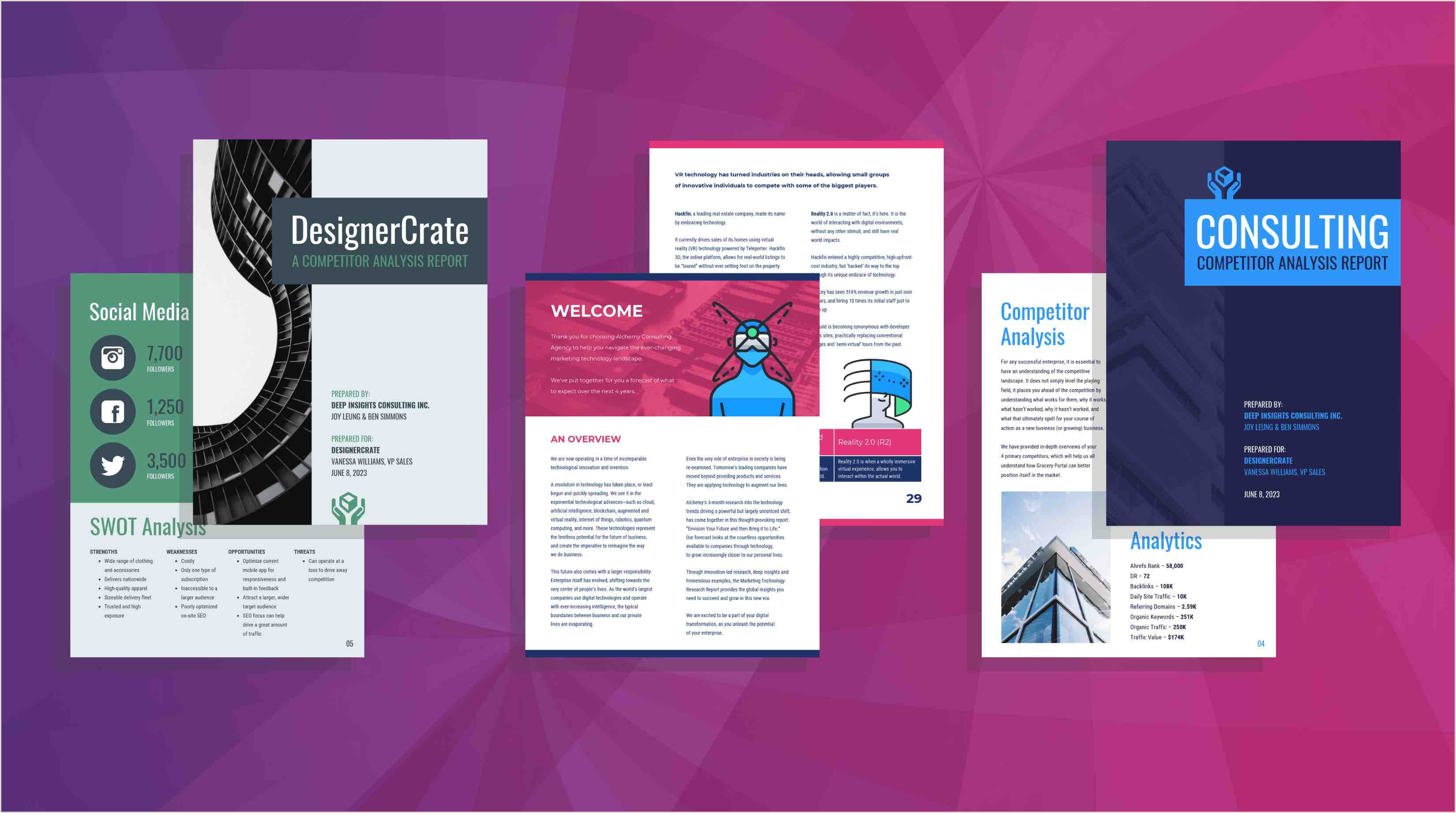 State Brochure Project Template 19 Consulting Report Templates that Every Consultant Needs