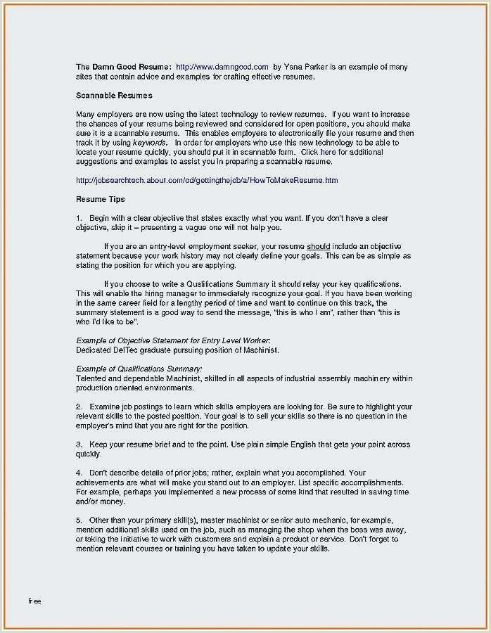 Statement Of Qualifications Examples 77 New Gallery Resume Summary Examples for Restaurant