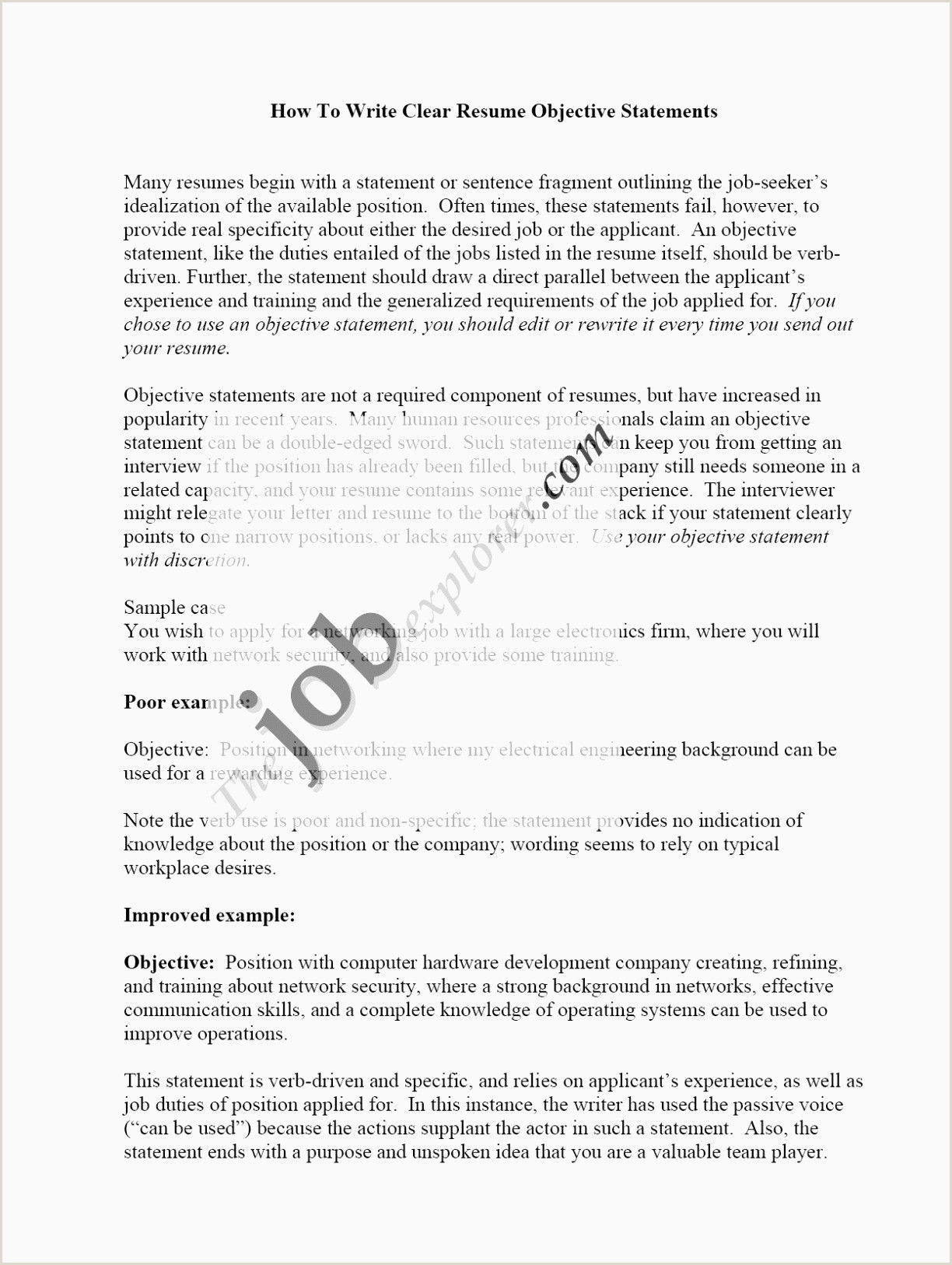 Business Purpose Statement Examples