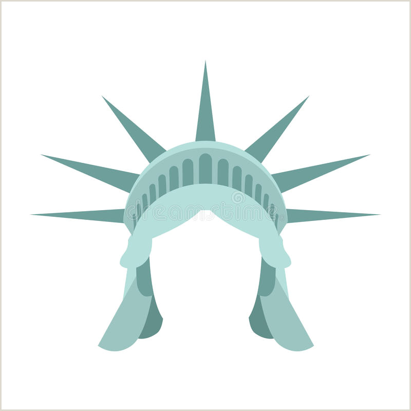Statue Of Liberty Crown Template Face Crown Stock Illustrations – 9 539 Face Crown Stock