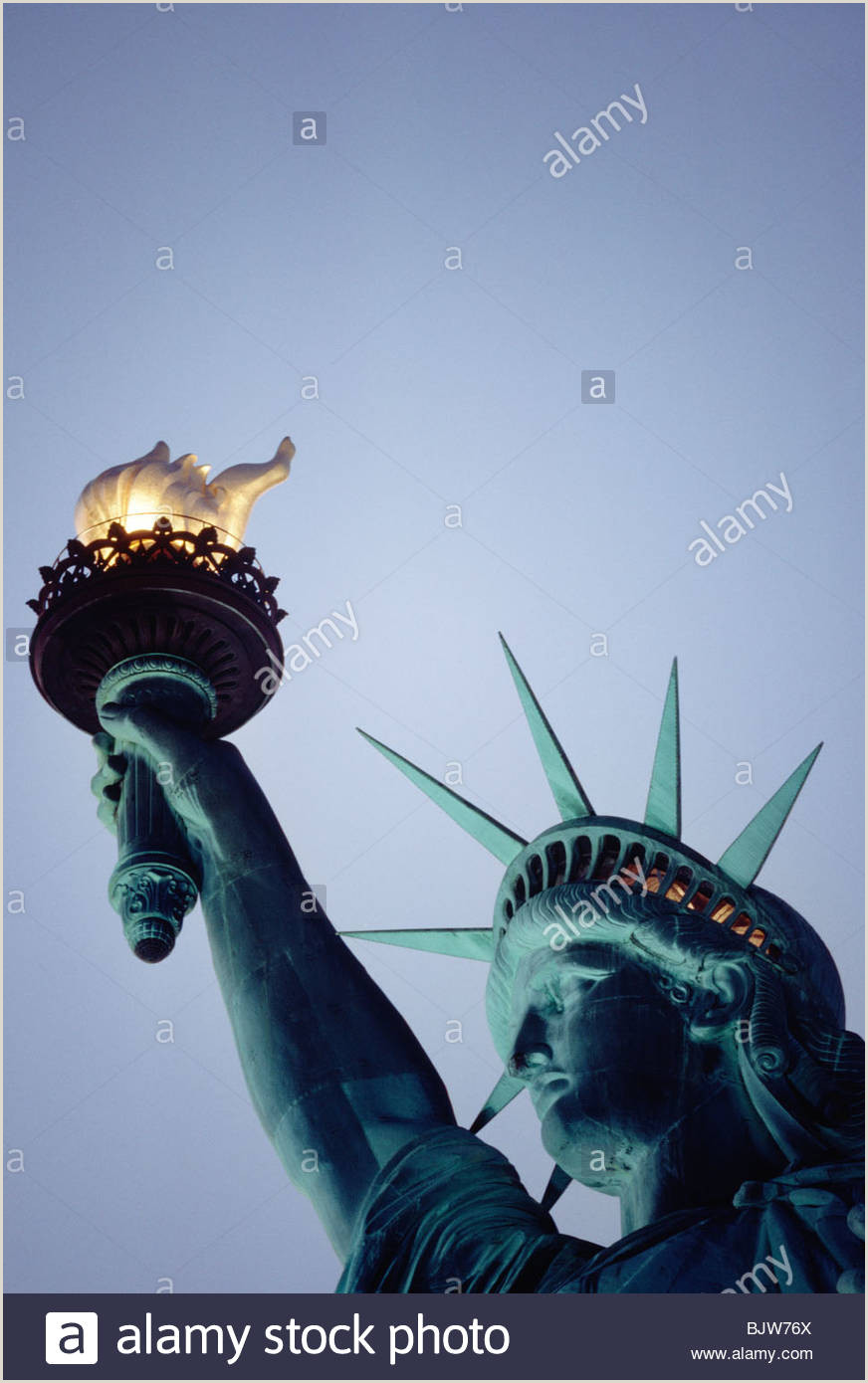 Statue Of Liberty Crown Template Liberty Spikes S & Liberty Spikes Alamy
