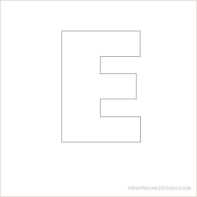 Stencil Letters Print Printable Big Letter Stencil E