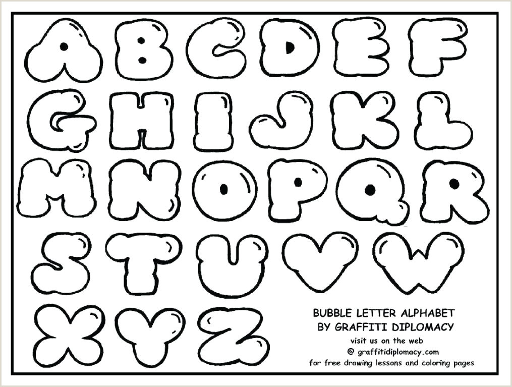 Graffiti Alphabet Bubble Letters Printable Coloring Pages