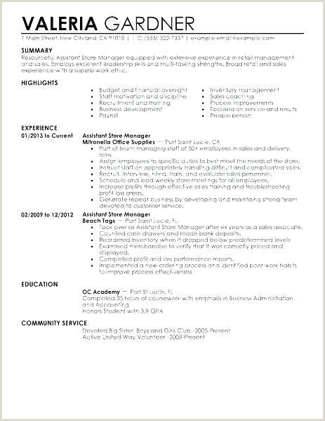 Best Retail Description for Resume