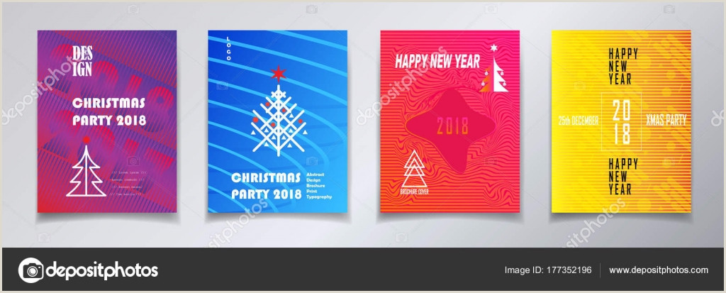 2018 Vector Happy New Year Christmas Winter Holiday Party