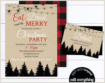Items similar to Christmas Party Invitation Template