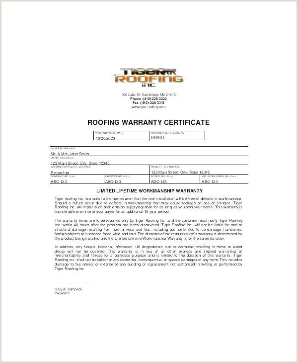 Subcontractor Warranty Letter Warranty Letter Template Construction Subcontractor Warranty