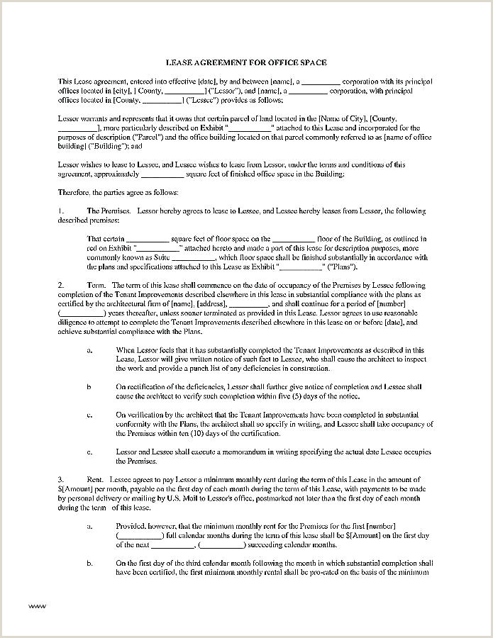 Sublease Contract Sample Mercial Office Lease Agreement Template – Bighaus