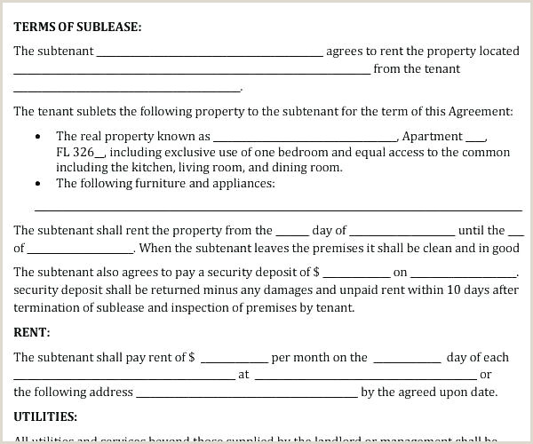 Sublease Contract Sample Subletting Agreement Template – Neerja