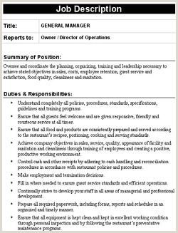 Resume CV Templates JOB DESCRIPTION TEMPLATES