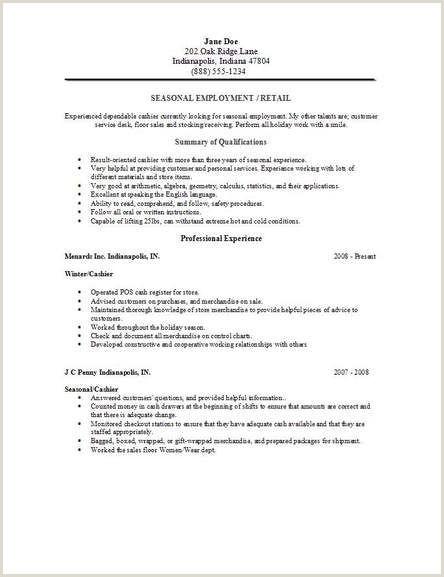 Seasonal Employment Resume2 Hunt