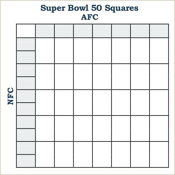 Super Bowl Boxes Template Excel Football Squares Template Excel Printable Square Pool Sheet
