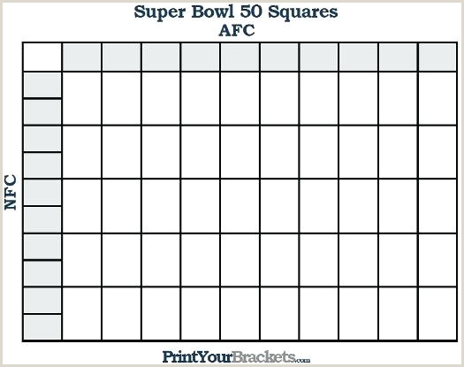 Printable Super Bowl Squares Grid fice Pool Football Box