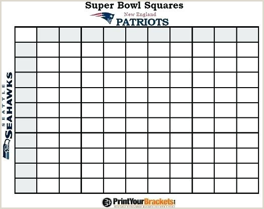 Printable Super Bowl Squares Grid fice Pool Get With 100